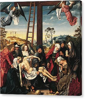 Pieta Canvas Print by Rogier van der Weyden