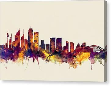 Sydney Australia Skyline Canvas Print by Michael Tompsett