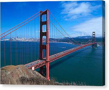 The Golden Gate Bridge Canvas Print by American School