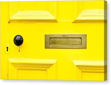 Yellow Door Canvas Print by Tom Gowanlock