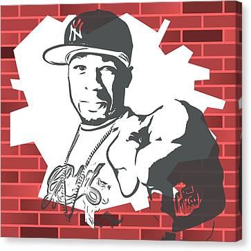 50 Cent Graffiti Tribute Canvas Print by Dan Sproul
