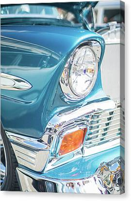 50s Chevy Chrome Canvas Print by Mike Reid