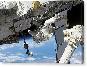 Astronaut Participates Canvas Print by Stocktrek Images