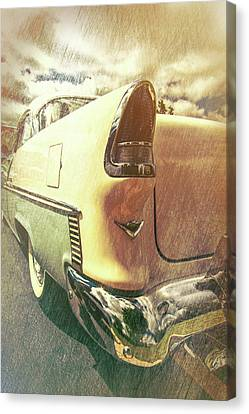 55 Bel Air Taillight Canvas Print by Mike Burgquist