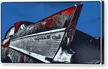 57 Chevy Canvas Print by Randy Kaufman