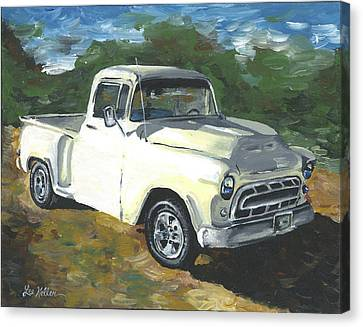 57 Chevy Truck Painting Canvas Print by Lee Keller