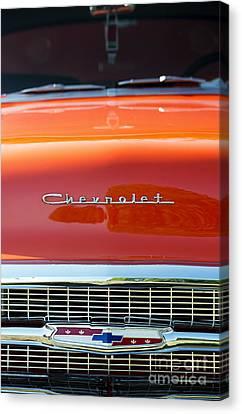 57 In Orange Canvas Print by Tim Gainey