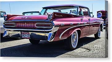59 Pontiac Bonneville Canvas Print by Steven Parker