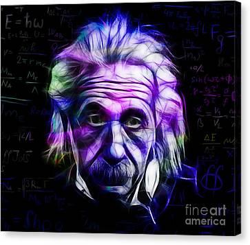 Albert Einstein Collection Canvas Print by Marvin Blaine