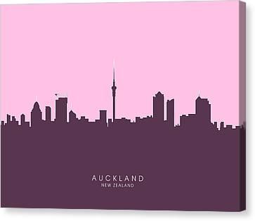 Auckland New Zealand Skyline Canvas Print by Michael Tompsett