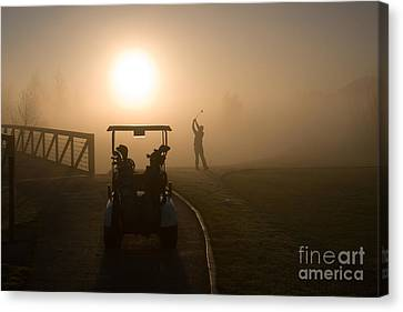 California Golf Course Sunrise Morning Golfers Canvas Print by ELITE IMAGE photography By Chad McDermott
