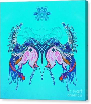 Dancing Musical Horses Canvas Print by Scott D Van Osdol