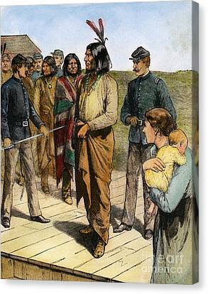 Geronimo (1829-1909) Canvas Print by Granger