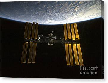 International Space Station Canvas Print by Stocktrek Images