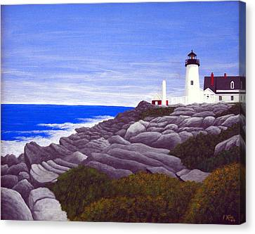 Pemaquid Point Light Station Canvas Print by Frederic Kohli