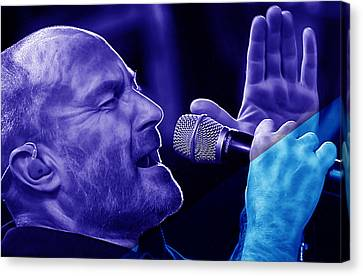 Phil Collins Collection Canvas Print by Marvin Blaine