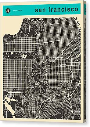 San Francisco Map Canvas Print by Jazzberry Blue