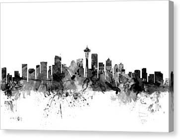 Seattle Washington Skyline Canvas Print by Michael Tompsett