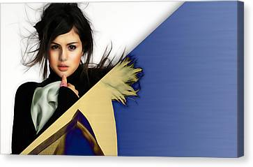 Selena Gomez Collection Canvas Print by Marvin Blaine