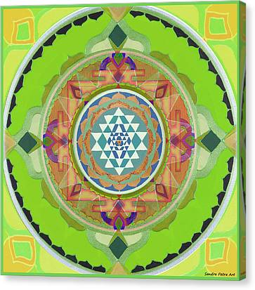 Sri Yantra Magic Canvas Print by Sandra Petra Art
