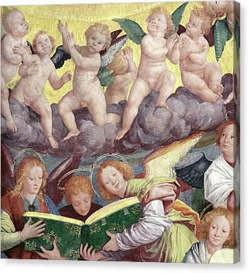 The Concert Of Angels Canvas Print by Gaudenzio Ferrari