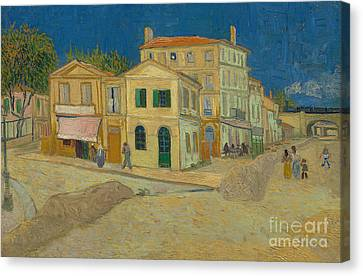 The Yellow House Canvas Print by Vincent Van Gogh