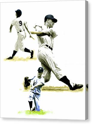 61  Roger Maris Canvas Print by Iconic Images Art Gallery David Pucciarelli