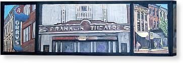#62 Going To The Franklin Theatre Canvas Print by Alison Poland