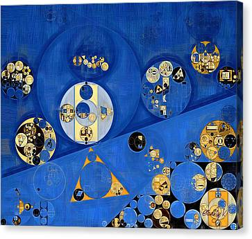Abstract Painting - Lapis Lazuli Canvas Print by Vitaliy Gladkiy