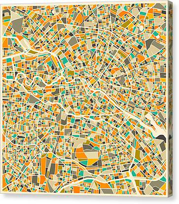 Berlin Map Canvas Print by Jazzberry Blue