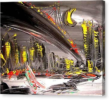 Cityscape Canvas Print by Mark Kazav