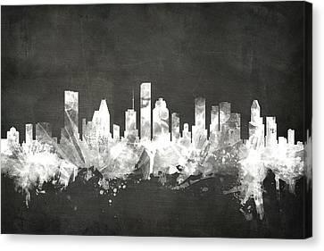 Houston Texas Skyline Canvas Print by Michael Tompsett
