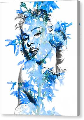 Marilyn Monroe Collection Canvas Print by Marvin Blaine