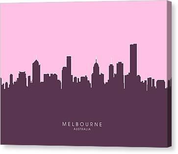 Melbourne Skyline Canvas Print by Michael Tompsett