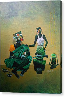 Mother And Child Canvas Print by Sharath Palimar