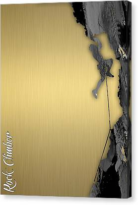 Rock Climber Collection Canvas Print by Marvin Blaine