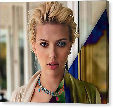 Scarlett Johansson Collection Canvas Print by Marvin Blaine