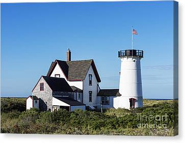 Stage Harbor Lighthouse Canvas Print by John Greim