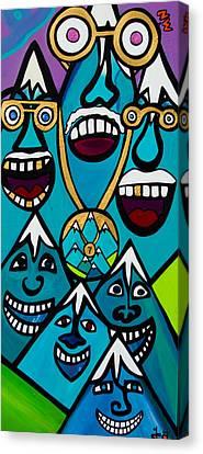 7 Summits Canvas Print by Joe Gallagher