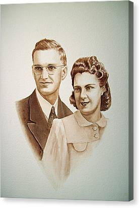 70 Years Together Canvas Print by Irina Sztukowski