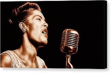Billie Holiday Collection Canvas Print by Marvin Blaine