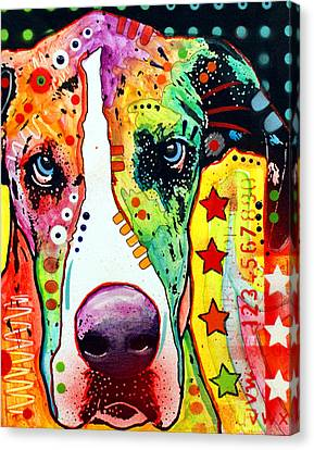 Great Dane Canvas Print by Dean Russo