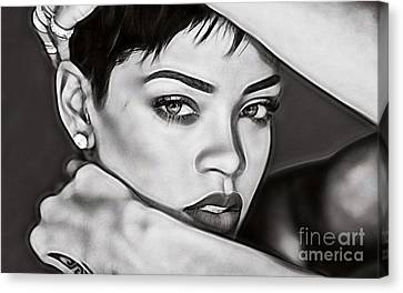 Rihanna Collection Canvas Print by Marvin Blaine