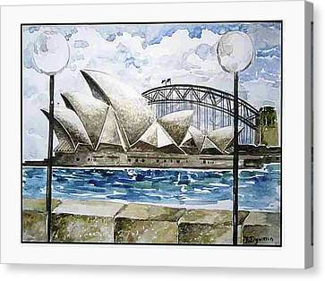 Sydney Opera House Canvas Print by Yelena Dyumin