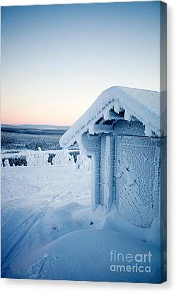 Winter In Lapland Finland Canvas Print by Kati Molin