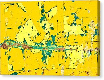 Yellow Metal Canvas Print by Tom Gowanlock