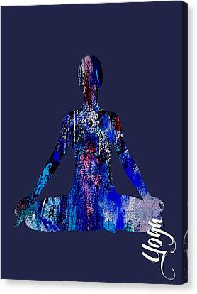Yoga Collection Canvas Print by Marvin Blaine