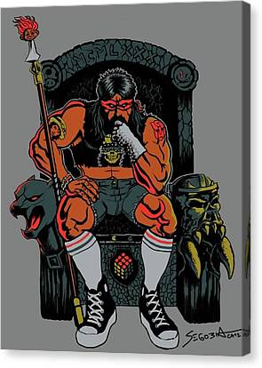 80's King Canvas Print by Martin Segobia