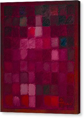 81 Color Fields - Madder Lake Canvas Print by Attila Meszlenyi