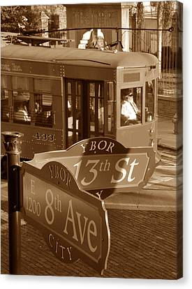 8th Ave Trolley Canvas Print by David Lee Thompson